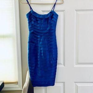 BCBG Strapless Tier Blue Dress - Size 02